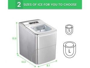 AGLUCKY Countertop Ice Maker Machine
