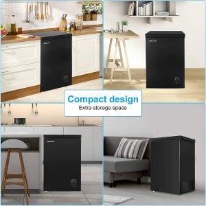 Compact design of Nictemaw chest freezer