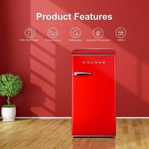 Galanz GLR33MRDR10 Retro Compact Refrigerator