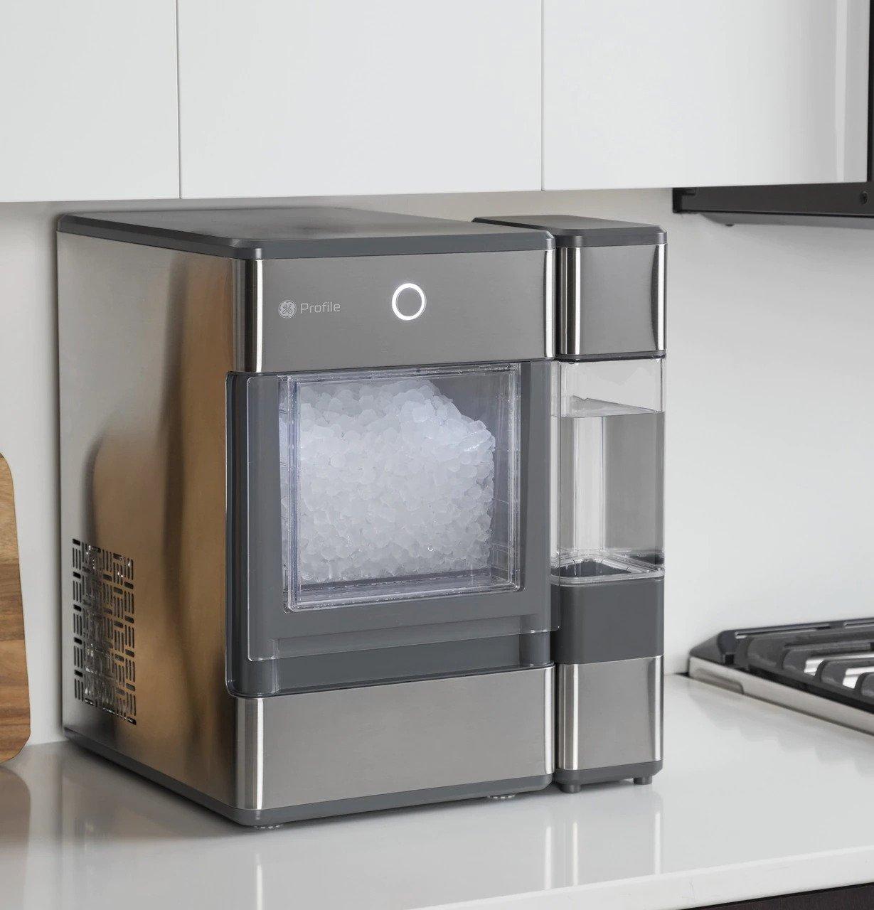 GE Profile Opal Ice Maker Placed in Shelf
