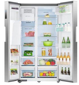 SMETA SDW-957WMU 36 inch Side by Side Refrigerator