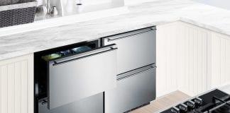Under counter setup of Summit SCFF532D Freezer